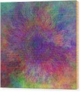 Cloud Mandala Wood Print