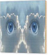Cloud Mask Wood Print