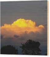 Cloud Of Sun Over Chaparral Lake Wood Print