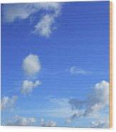 Cloud Of Z Wood Print