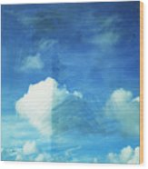 Cloud Painting Wood Print