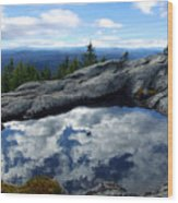 Cloud Pool On Borestone Mountain Wood Print