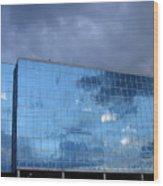 Cloud Reflection Wood Print
