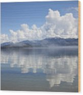 Cloud Reflection On Priest Lake Wood Print