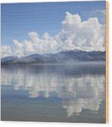 Cloud Reflection On Priest Lake Wood Print