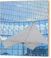 Cloud Reflections - Revel Hotel Wood Print