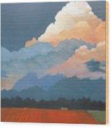 Cloud Rising Wood Print