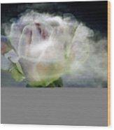 Cloud Rose Wood Print