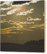 Cloud Shadows Wood Print