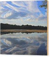 Cloud Show, Reflected Wood Print
