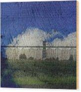 Cloud Silo Wood Print