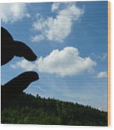 Cloud Squeeze Wood Print