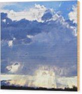 Cloud Storm On The Horizon Wood Print
