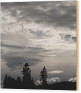 Cloud Study 1 Wood Print