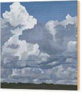 Cloud Study Wood Print