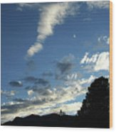 Cloud Sweep And Silhouette Wood Print