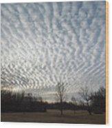 Cloud Symmetry Wood Print