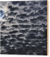 Cloud Tiles Wood Print