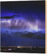 Cloud To Cloud Lightning Boulder County Colorado Wood Print