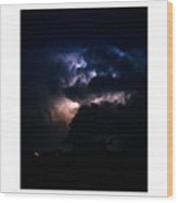 Cloud To Cloud Lightning Photography Poster Wood Print