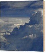 Cloud View Wood Print