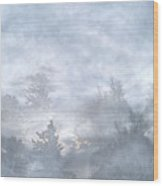 Cloud Walk Forest Wood Print