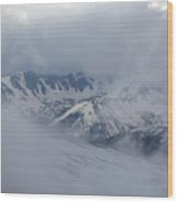Cloud Window Wood Print