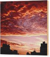 Clouded Fury Wood Print