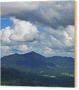 Clouded Landscape Wood Print