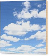 Clouded Sky Wood Print