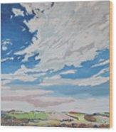 Clouded Sky On The Valley Wood Print