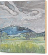Clouded Sky Over Woburn Quebec Canada Wood Print
