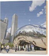 Cloudgate At Millennium Park Wood Print