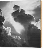 Clouds-1- St Lucia Wood Print