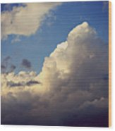 Clouds-3 Wood Print