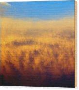 Clouds Ablaze Wood Print