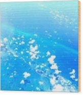 Clouds Above The Florida Keys Wood Print