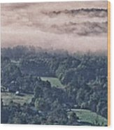 Clouds Above The Valley Panoramic Wood Print