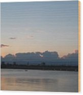 Clouds And Lake9 Wood Print