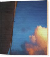 Clouds And Sails Wood Print