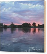 Clouds And Sunset Reflection In Prosser Wood Print