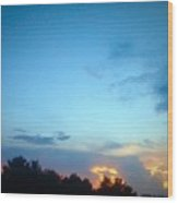 Clouds Arch Over Sunset Wood Print