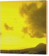 Clouds At Sunset Over Basseterre Wood Print
