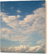 Clouds Clouds Clouds Wood Print