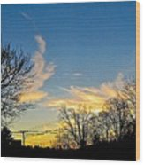 Clouds Dancing To The Sunset Light Wood Print