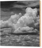 Clouds I I Wood Print