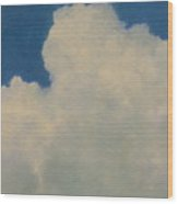 Clouds Illusions Wood Print