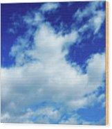 Clouds In A Beautiful Blue Sky Wood Print