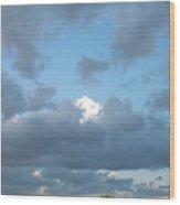 Clouds In A Bright Sky Wood Print