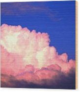 Clouds In Mystical Sky Wood Print